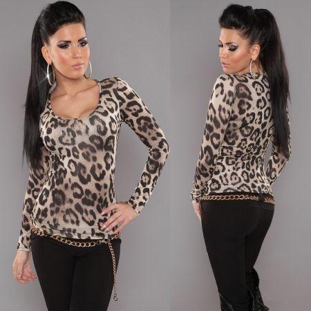 Леопардовая Кофта